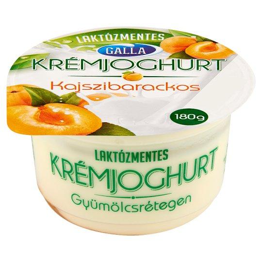 Galla Lactose-Free Layered Apricot Flavoured Cream Yoghurt 180 g