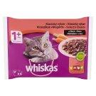 Whiskas 1+ Klasszikus Válogatás teljes értékű nedves eledel felnőtt macskáknak mártásban 4 x 100 g