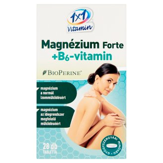1x1 Vitamin Magnesium Forte + Vitamin B₆ Supplement Tablets 28 pcs 15,4 g