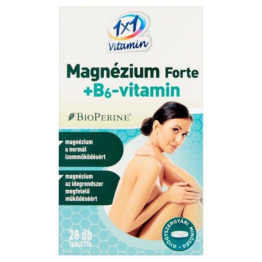 1x1 Vitamin Magnesium Forte + Vitamin B₆ Supplement Tablets 28 pcs 15,4 g