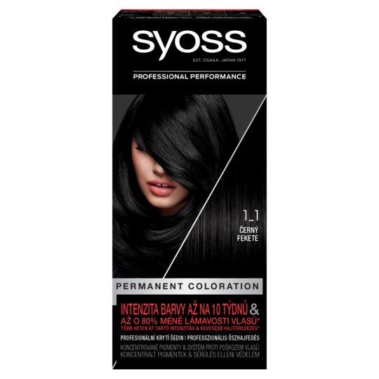 Syoss 1-1 Black Permanent Hair Colorant