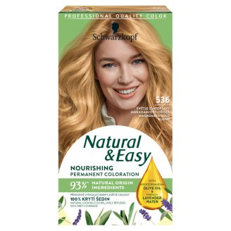 Schwarzkopf Natural & Easy 536 Macadamia Gold Blond Permanent Hair Colorant