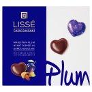 Lissé marcipános-szilvás szív étcsokoládéval 96 g