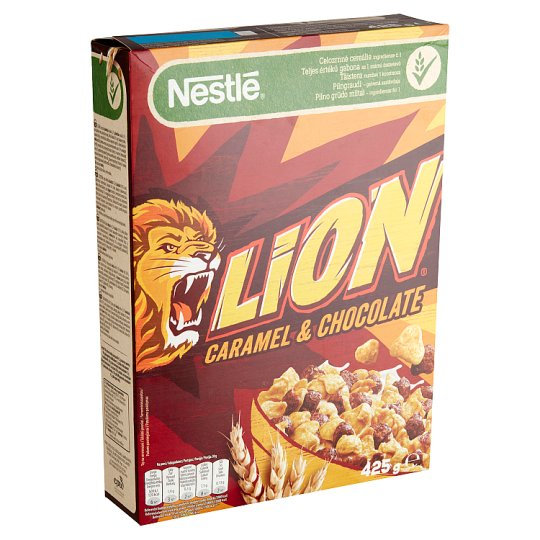 Nestlé Lion Caramel & Chocolate Flavoured, Crunchy Cereals 425 g