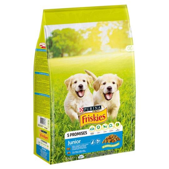 Friskies Vitafit Junior Complete Pet Food for Puppies with Chicken and Vegetables 8 kg