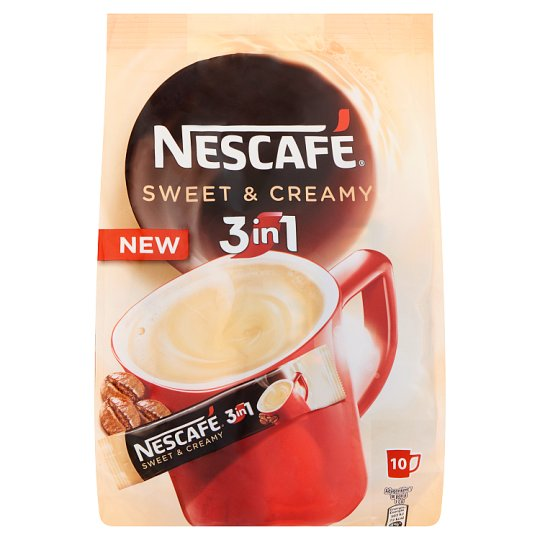 Nescafé 3in1 Sweet & Creamy azonnal oldódó kávéspecialitás 10 db 170 g