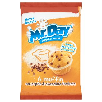 Mr. Day Muffin Classic Fine Cake with Chocolate Pieces 6 pcs 252 g