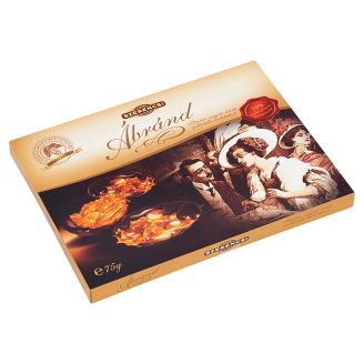 Szerencsi Ábránd Almond- Hazelnut- Cashew Grillage Medal with Dark Chocolate 75 g