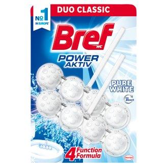 Bref Power Aktiv Pure White Toilet Block 2 x 50 g