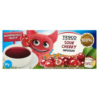 Tesco Sour Cherry Infusion Sour Cherry Flavoured Filtered Fruit Tea 20 Tea Bags 30 g
