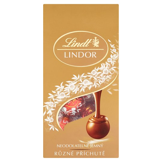 Lindt Lindor Milk, White and Dark Chocolate Pralines with A Smooth Filling 100 g