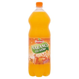 Sconto Energy-Free Orange Flavoured Syrup with Sweeteners 2 l