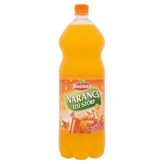 Sconto energiamentes narancs ízű szörp édesítőszerekkel 2 l