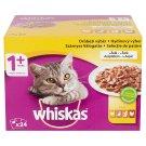 Whiskas 1+ Szárnyas Válogatás teljes értékű állateledel felnőtt macskák számára 24 x 100 g