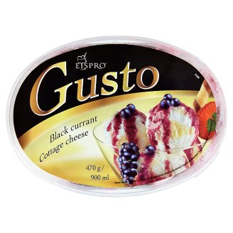 Eispro Gusto Cottage Cheese and Vanilla Ice Cream with Black Currant Sauce 900 ml