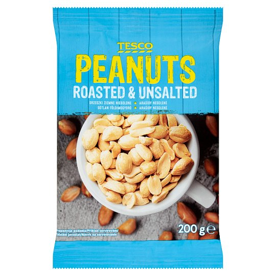 Tesco Roasted & Unsalted Peanuts 200 g