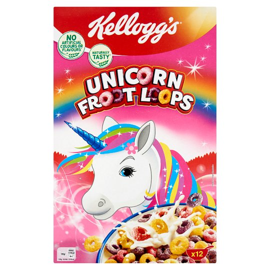 Kellogg's Unicorn Froot Loops Mixed Cereal Fruit Flavoured Loops 375 g