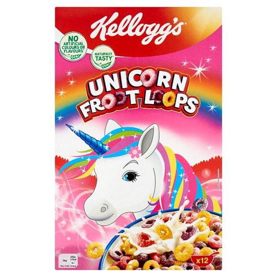 Kellogg's Unicorn Froot Loops gyümölcs ízesítésű gabonakarikák 375 g