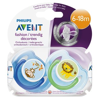 Philips Avent Classic Soother 6-18 Months 2 pcs