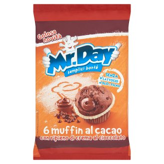 Mr. Day Muffin Chocolate Fine Cake with Chocolate Filling 6 pcs 252 g