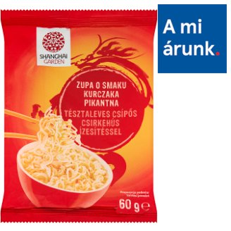 Shanghai Garden Instant Noodle Soup with Hot Chicken Flavour 60 g