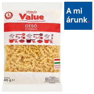 Tesco Value Fusilli Dry Pasta with 2 Eggs 500 g