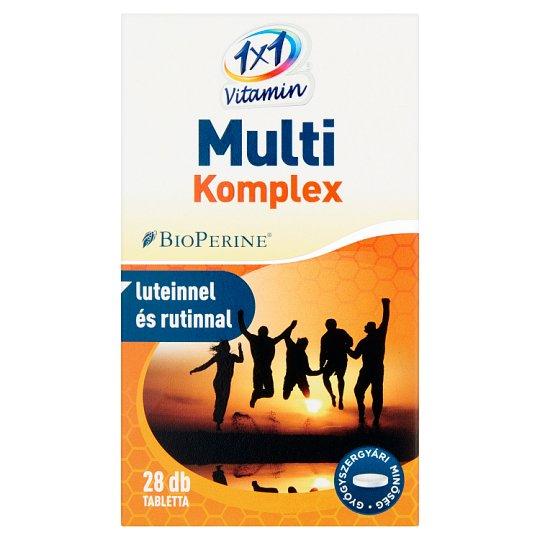 1x1 Vitamin Multi Komplex étrend-kiegészítő filmtabletta lutiennel és rutinnal 28 db 14 g