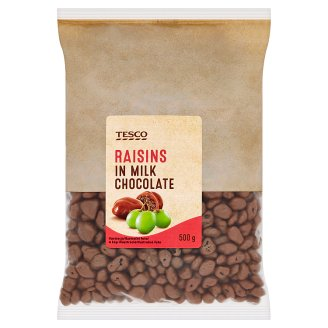 Tesco Raisins in Milk Chocolate 500 g