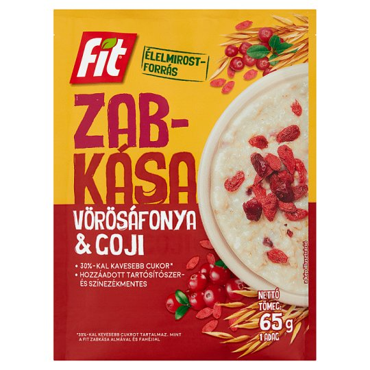 Fit Reggeli Porridge with Goji Berry and Cranberry Flavour 65 g