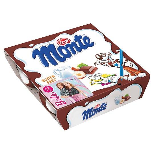 Zott Monte Milk Dessert with Chocolate and Hazelnuts 4 x 55 g