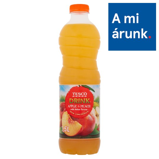 Tesco Apple & Peach Drink with Melon Flavour, with Sugar and Sweetener 1,5 l