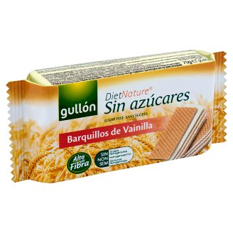 Gullón Diabetic Vanilla Flavour Filled Wafer with Sweetener 70 g