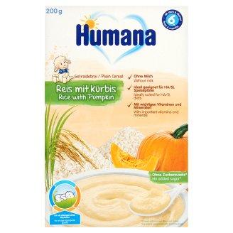 Humana Milk-Free Grain Porridge with Rice and Pumpkin 6+ Months 200 g