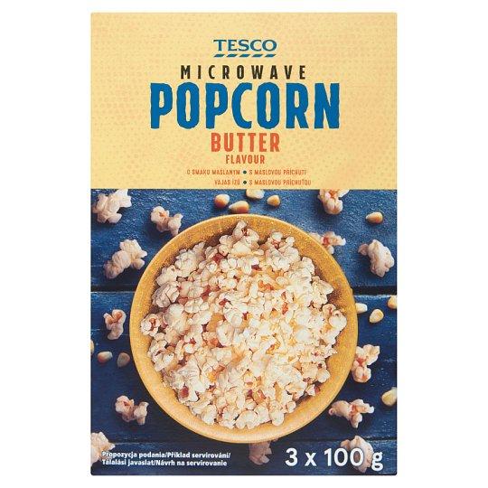Tesco vajas ízű, mikrohullámú sütőben elkészíthető pattogatni való kukorica 3 x 100 g