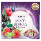 Tesco Mixed Berries Infusion Raspberry-Blueberry-Mulberry Flavoured Fruit Tea 20 Tea Bags 42 g