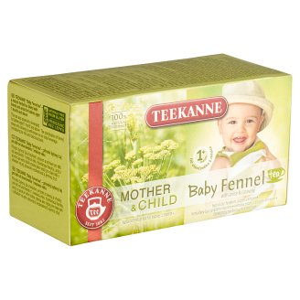Teekanne Mother & Child Baby Tea Fennel Tea with Aniseed and Caraway 3 months + 20 Tea Bags 36 g