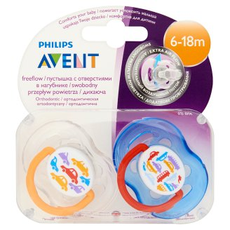 Philips Avent Air Hole Orthodontic Color Pacifiers with Cap 6-18 Months 2 pcs