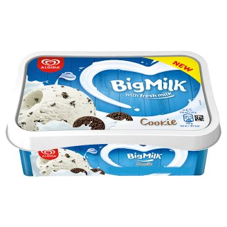 Big Milk Cookie Vanilla-Cream Flavour Ice Cream with Cocoa Biscuit Pieces 1000 ml