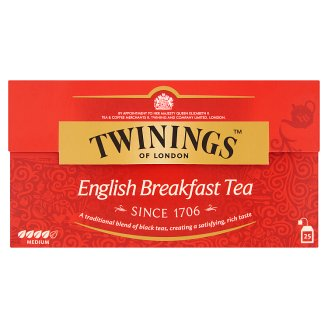 Twinings English Breakfast Black Tea 25 Tea Bags 50 g