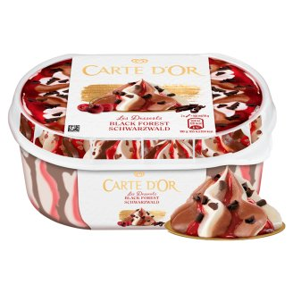 Carte D'Or Gelateria Schwarzwald Sour Cream and Chocolate Flavoured Ice Cream 900 ml