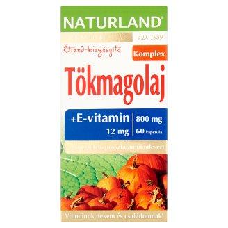 Naturland Premium tökmagolaj lágyzselatin étrend-kiegészítő kapszula E-vitaminnal 60 db 67,32 g