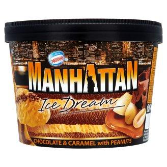 Nestlé Manhattan csokoládé- és karamellízű jégkrém földimogyoródarabokkal 1400 ml
