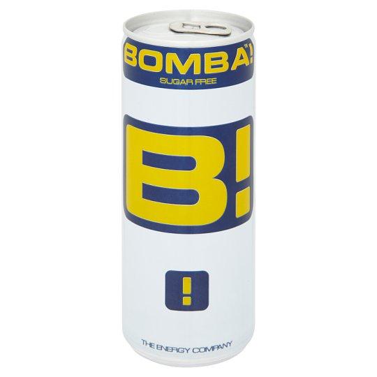 BOMBA! magas koffeintartalmú, tutti-frutti ízű cukormentes szénsavas ital édesítőszerrel 250 ml