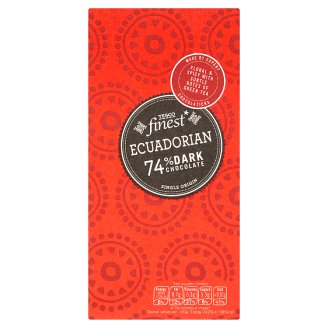 Tesco Finest Ecuadorian Dark Chocolate 100 g