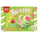 Mini Twister ananász-eper-citrom-lime ízű jégkrém 8 db 312 g