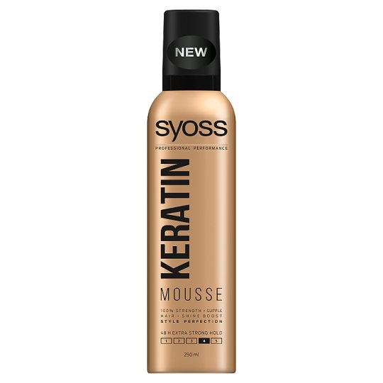 Syoss Keratin Style Perfection Extra Strong Hair Mousse 250 ml
