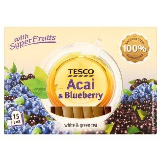 Tesco acai gyümölcslével és áfonyával ízesített fehér és zöld teák keveréke 15 filter 22,5 g