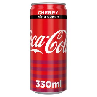 Coca-Cola Zero Cherry Cola Flavoured Energy-Free Carbonated Drink with Cherry Flavour 330 ml