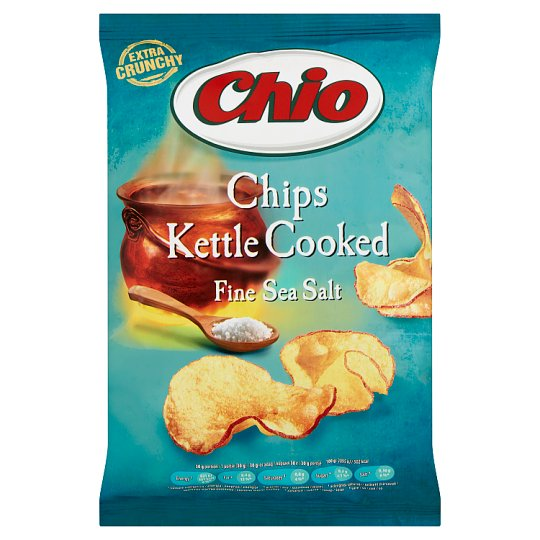 Chio Kettle Cooked tengeri sós ízesítésű héjas burgonyachips 80 g