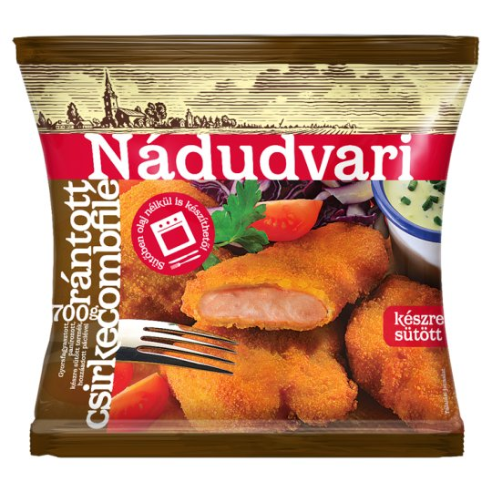 Nádudvari Quick-Frozen Breaded Chicken Thigh Fillets 700 g